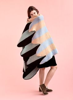 Vík Prjónsdóttir has launched two Icelandic wool blankets shaped like the wings of birds as part of a range of avian-influenced coverings.