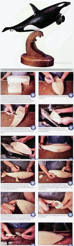 Carving and Painting Killer Whale - Wood Carving Patterns and Techniques | WoodArchivist.com