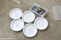 BIG Alphabet Memory Game Preschool Activity