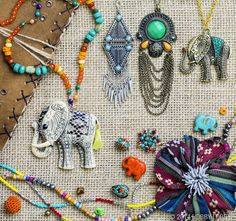 World wanderers, celebrate your love of other cultures with exotic jewelry from our Tribal Market collection.