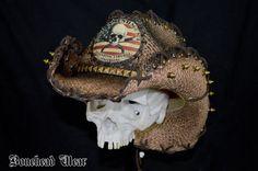 2nd Amendment Skull Crossbones  Rocker Style by boneheadwear