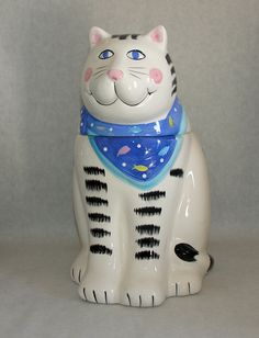 Coco Dowley for Certified International Large Cat Cookie Jar Cat Cookie Jar, Cookie Jars, Cookie Monster, Toy Trees, Teapot Cookies, Cat Products, Vintage Cookies, Here Kitty Kitty, Cat Stuff