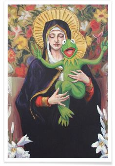 Virgin Of The Lily Pad as Premium Poster by Hillary White | JUNIQE