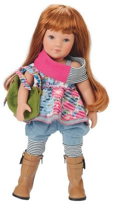 Elea Julie, a 41cm all vinyl childrens doll made in Germany and Latvia.