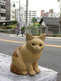 Cat wood carving My handmade cat Chiro,wood, carving.