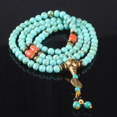 Turquoise Buddhist Stone Beads