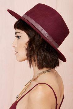 Brixton Messer Wool Hat - Wine | Shop Accessories at Nasty Gal