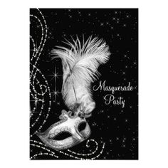 425 best silver black birthday party invitations images on pinterest