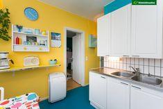 Aurinkoisen keltainen seinä keittiössä - Etuovi.com Ideat & vinkit