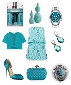 """ocean blue"" by marifimarina ❤ liked on Polyvore featuring ELIZABETH HURLEY beach, Bottega Veneta, L.A.M.B., Antica Murrina, Oscar de la Renta and Armani Exchange"