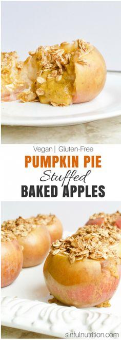 Pumpkin Pie Stuffed Baked Apples + VIDEO {Vegan, GF}