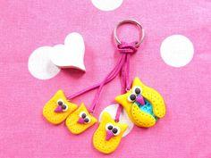 Schlüsselanhänger - Schlüsselanhänger Freche Eule - ein Designerstück von MIO-O bei DaWanda