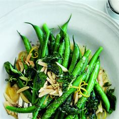 Try this Green Beans with Almonds, Oregano and Lemon recipe by Chef Donna Hay.
