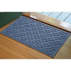 Bungalow Flooring Aqua Shield Elipse Doormat Size: 2' x 3', Color: Medium Blue