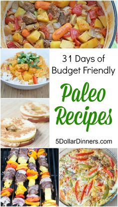 Follow along as we feature 31 Days of Budget Friendly Paleo Recipes for the entire month of May on 5DollarDinners.com!