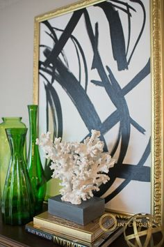 Amanda Carol Intereiors5.  Black (and white) Abstract Art