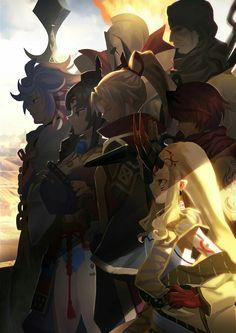 Ibaraki douji & Fuuma Kotarou & Amakusa Shirou & Musashibou Benkei & Leonidas & Ushiwakamaru & Merlin Amakusa, Gilgamesh Fate, Ibaraki, Fate Servants, Fate Anime Series, Lol League Of Legends, Fate Zero, Best Waifu, Type Moon