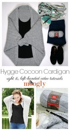 The Hygge Cocoon Cardigan Tutorial is here to guarantee you understand all the stitches and all the details of this free easy crochet sweater pattern made with Red Heart Yarns Hygge! Pattern, supplies, and right and left-handed videos on Moogly! Crochet Cardigan Pattern, Crochet Shawl, Knit Crochet, Crochet Sweaters, Moogly Crochet, Crochet Cocoon Pattern, Crochet Stitches, Easy Crochet Shrug, Crochet Baby