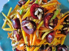 Fragrant Vanilla Cake: Raw Carrot Cherry Slaw