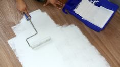 How to Paint a Hardwood Floor With Tile Stencils
