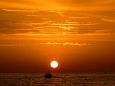 Ocean sunset at Castiglione della Pescaia Tuscany