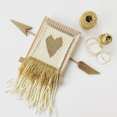 Full tutorial with many pictures of this golden-heart wall hanging in my blog, www.mypieceofcraft.com