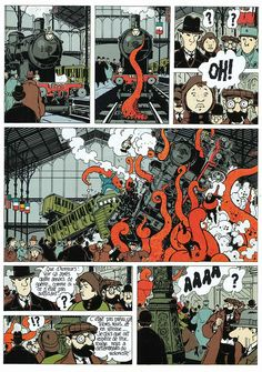 Tardi, Jacques Tardi. Adèle Blanc-Sec,  combination of realistic background with iconic characters.