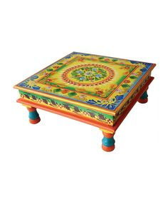 Look at this Yellow Hand-Painted Table on #zulily today!