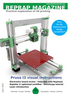 I had no idea this magazine was available. There is a ton of good information and plans for a Prusa I3. A must read if you are into 3d printing in my opinion.