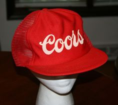 Vintage COORS Beer Snapback Cap red mesh Hat trucker fishing golf #Trucker