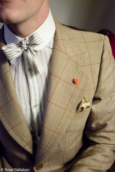 I like how simple, slightly mismatched and dandy this is. Especially love the bowtie