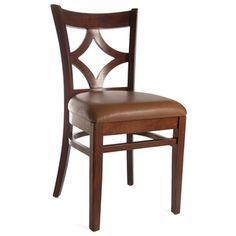 Medium Oak and Leatherette Diamond Back Side Chairs (Set of 2) 16.5 w, fake leather, $200/2
