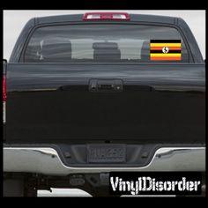 Uganda Flag Sticker Car Or Wall Vinyl Decal