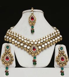 Designer India Kundan Jewellery Set : Indian Saree, - Buy Indian Saree ...