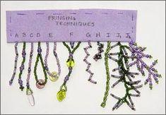 Beaded Fringe Sampler by Robin Atkins, Bead Artist  ~ Seed Bead Tutorials