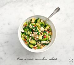 Thai coconut cucumber salad with red curry