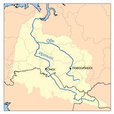 Обь протекает по территории России, по западной части Сибири, и относится к бассейну Северного Ледовитого океана. Она образуется в месте слияния Бии и Катуни, в южной части Западной Сибири, на территории Алтайского края, течет в северо-западном направлении, принимая в себя воды многочисленных сибирских равнинных рек, которые разбивают ее на множество рукавов. После слияния с Иртышом река поворачивает на север и несет свои воды в Обский залив, соединяющийся с Карским морем