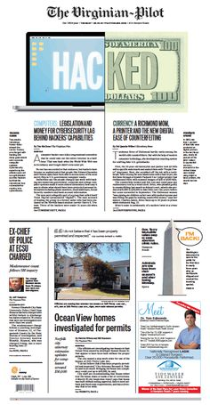 The Virginian-Pilot's front page for Tuesday, May 13, 2014.