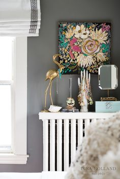 Dina Holland Interiors Bedroom Jewelry Radiator