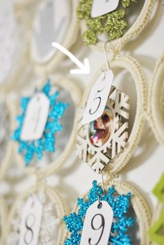 Making A Sweet & Easy Advent Calendar ...with ikea scarf hanger | Young House Love