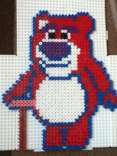 Lots-o'-Huggin' Bear Toy Story hama beads by Sam Riley