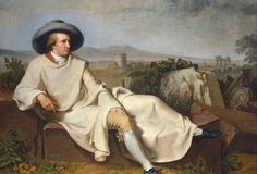 Goethe in the Roman Campagna by Johann Heinrich Wilhelm Tischbein from the Digital Collection of the Städel Museum Google Art Project, Oil Canvas, Canvas Art Prints, Städel Museum, Galerie Creation, Johann Wolfgang Von Goethe, Grand Tour, Oeuvre D'art, Art Google