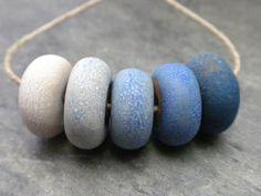 Ombre handmade ceramic cobalt blue color door SlateStudiosSupply, $12.50