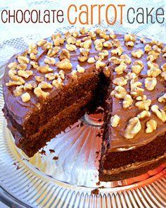 Chocolate Carrot Cake from SteakNPotatoesKindaGurl @Desiree Nechacov Nechacov Vick {February Crazy Cooking Challenge}