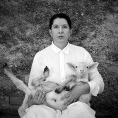 Marina Abramovic * Self-Portrait with White Lamb (2010)