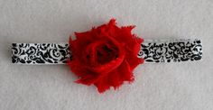 Baby Head band Photo Prop Feather and Chiffon Flower by JennCannon, $9.99