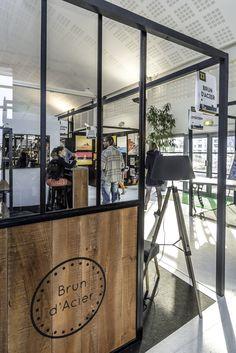 Portes de placard coulissantes style verrire atelier industrielle Bois et mtal gris www