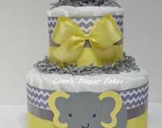 Articoli simili a 2 Tier Light Yellow /Gray Elephant Diaper Cake Baby Shower Centerpiece su Etsy Cute Baby Girl, Baby Boy, Little Man Shower, Elephant Diaper Cakes, Grey Elephant, Cake Baby, Gift Table, Baby Shower Centerpieces, New Baby Gifts