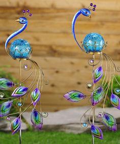 Decorative peacock garden stakes Peacock Theme, Peacock Decor, Peacock Design, Peacock Art, Peacock Colors, Peacock Wedding, Peacock Feathers, Peacock Crafts, Garden Landscaping