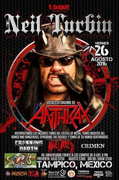 Neil Turbin The Metal Beast Is Back Tour Latin America 2016 Tampico, Mexico…